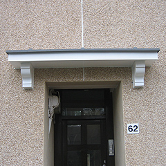 GRP Lead Effect Canopies Can Be Supplied To Slip Over Existing Concrete Or As Self Supporting